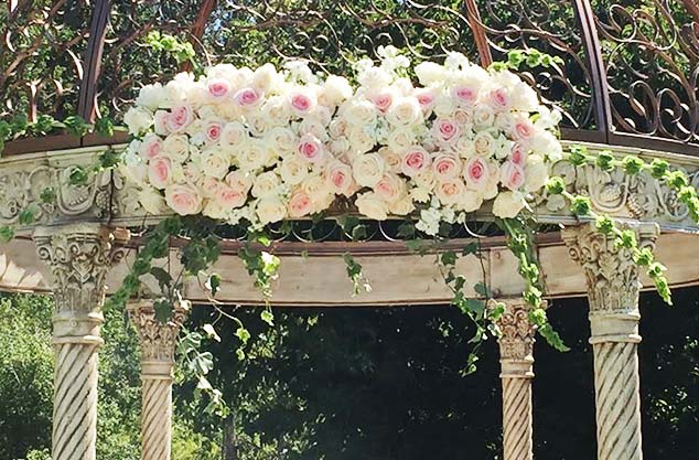I Do Ceremony Gazebo Or Arbour Flowers