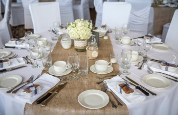 I Do Flowers and Decor Burlap Table Runners